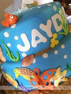 First Birthday Cake - Ocean Theme. Kid Parties, Birthday Parties, First Birthday Cakes, Birthday Ideas, Ocean Themes, Cakes And More, First Birthdays, Party Ideas, Kids