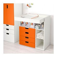 IKEA offers everything from living room furniture to mattresses and bedroom furniture so that you can design your life at home. Check out our furniture and home furnishings! Changing Table With Drawers, Ikea Baby Room, Ikea Stuva, Ikea Us, Design Your Life, Small Shelves, Home Furnishings, Living Room Furniture, Storage Spaces