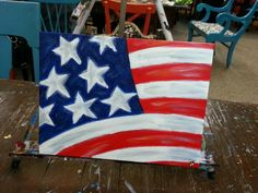 Hand painted flag on canvas