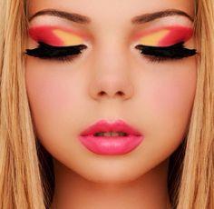 #makeup #beauty #eyeshadow #eyelashes #lipstick #makeupbygabriella  #bridal #beauty #pinoftheday #pinit #follow  #pink #yellow