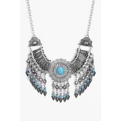 Boohoo Lucy Statement Beaded Necklace (1.340 RUB) ❤ liked on Polyvore featuring jewelry, necklaces, silver, layered necklace, stacked necklaces, chunky silver chain necklace, ear cuff jewelry and silver bead necklace