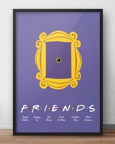 Para os fãs dessa série inesquecível que nos arrancou inúmeras gargalhadas!    Acesse www.pixelsemserie.com.br e compre o seu !    #friends #poster #decoração #geek #pixelsemserie