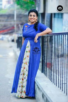 Roja in indo western dress Indian Western Dress, Western Dresses, Indian Dresses, Long Gown Dress, Long Gowns, Kalamkari Dresses, Kurti Embroidery Design, Anarkali Dress, Indian Attire