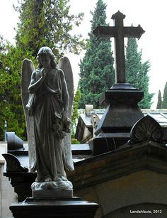Angel under the rain  Cementerio de Granada, Andalucía