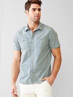 1969 railroad stripe iconic worker shirt
