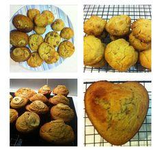 Banana & Date Loaves / White Choc & Macadamia Biscuits / Choc Chip Cookies