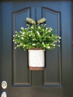 Summer Front Door Ideas | ... - Summer Fields - Door Arrangement - Cottage Chic - Summer Flowers