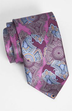 Ermenegildo Zegna Print Silk Tie available at Nordstrom