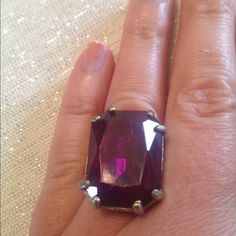 Plum Colored Cocktail Ring NWOT Gorgeous plum colored cocktail ring is a needed…