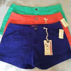 3 for 1 price shorts bundle NEW! NWT! 3 pairs for 1 price! Size 11. Juniors sizing. Soft cotton with stretch.Tags were removed from the green pair, but they have never been worn! Comes from a smoke and pet free home.Discount with Bundles!! Unionbay Shorts