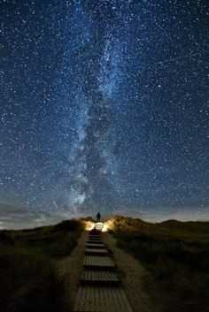 "Hoax: To the chagrin of its author, this photo has been shared multiple times with an absurd caption that reads ""Heaven's Trail, A place in Ireland where every two years the stars line up with this place"". The picture was in fact taken in Germany and the photographer even explained its surprising making-of.""My God, It's Full of Stars""."