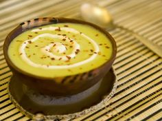Wasabi Avocado soup