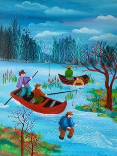 Fishermans by Chantal Maurer  Naive-Art.fr