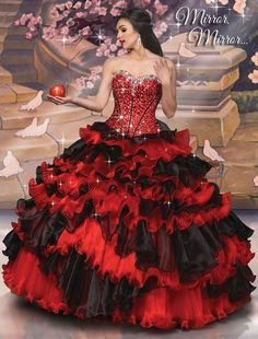 Shop for Disney Royal Ball Quinceanera Dresses and Gowns online. Look like your favorite Disney Princess during your Sweet 15 party. Black Quinceanera Dresses, Robes Quinceanera, Ball Gown Dresses, 15 Dresses, Bridesmaid Dresses, Dress Prom, Robes Disney, Disney Dresses, Sweet 16 Dresses