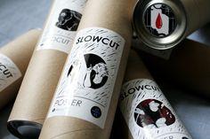 Package for Slowcut by Polina Tsareva, via Behance