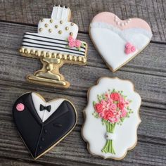 Wedding sugar cookies. Royal icing wedding sugar cookies.