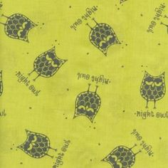 Night Owl Gray Tiny Stars Celery Little Things Organic Fabric MODA