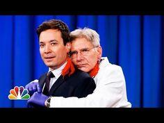 Harrison Ford Pierces Jimmy Fallon's Ear. I love Jimmy!