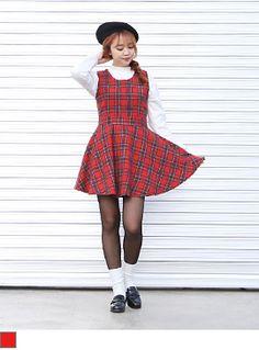 [타탄체크 OPS] #키키코 #KIKIKO #1월 #신상 #NEW #ARRIVAL #키작녀 #쇼핑몰 #10대 #여성 #Dailylook #Fashion