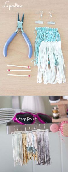 Fun DIY Jewelry Ideas   Cool Homemade Jewelry Tutorials for Adults and Teens   Awesome Bracelets, Necklaces, Earrings and Accessories You Can Make At Home   Fringe Earrings   http://diyprojectsforteens.com/fun-diy-jewelry-ideas-for-teens