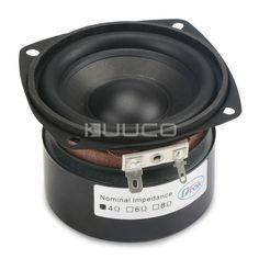 Square Speaker 3 inches 4 ohms 25W Music Sound Box Voice Audio Speaker Subwoofer Speaker Bass Loudspeaker Horn