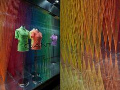 Gant x The Art of Colour windows by Harlequin Design, London – UK » Retail Design Blog