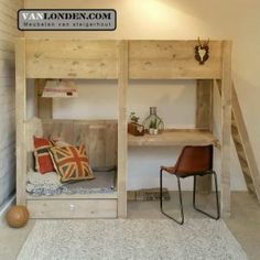Loft Beds For Small Rooms, Small Room Bedroom, Bedroom Loft, Kids Bedroom, Bunk Beds Boys, Kid Beds, Bed With Wardrobe, Loft Bed Plans, Boys Room Design