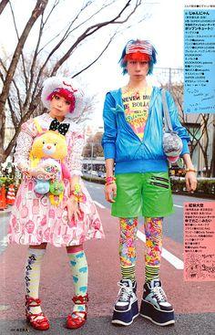 . 2000s Fashion, Tokyo Fashion, Harajuku Fashion, Teen Fashion, Fashion Outfits, Japanese Street Fashion, Korean Fashion, Genderless Kei, Tokyo Street Style