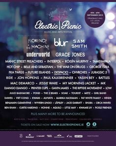 Electric Picnic 2015 poster