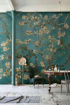 Van Gogh almond tree wall
