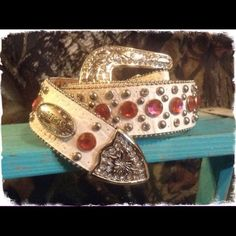 Pink/White Western Bling Belt Pink/White Western Bling Belt. New Retail. Beautiful Not His Camo Accessories Belts