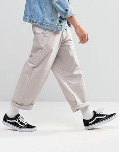 £20 ASOS+Wide+Leg+Chinos+In+Light+Grey
