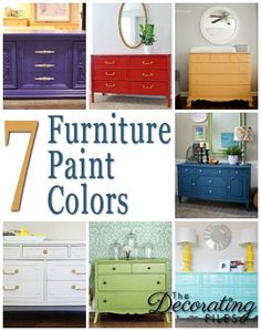 Furniture Paint Colors: Choosing furniture paint colors can be so much fun. Its one of the most cost-effective projects for updating your home. Here are 7 colors for inspiration.
