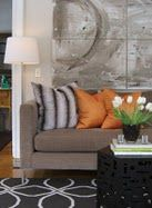 I love neutrals with a pop of color. Never be afraid of a little orange!