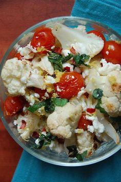 The Healthy Bites: Mediterranean Roasted Cauliflower