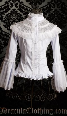 "Victorian ""Innocent"" blouse with lace-up back"