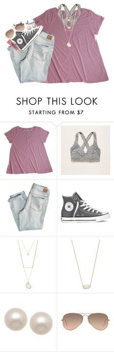"""""""want a bff set w me? rtd for more info"""" by smbprep ❤ liked on Polyvore featuring LABEL+thread, Aerie, American Eagle Outfitters, Converse, Forever 21, Kendra Scott, Honora, Ray-Ban and Too Faced Cosmetics"""