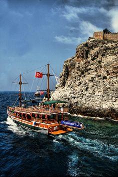 The blue-green sea. Turkey