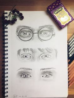 And here's mah Harry Potter eye drawing / fanart