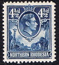 Northern Rhodesia 1938 Animals SG 36 Fine Used Scott 36  Other British Commonwealth Empire and Colonial Stamps Here