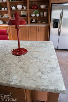 Office Remodel Reveal! #DIY #homeimprovement Wilsonart HD High Definition Spring Carnival Laminate Countertops.