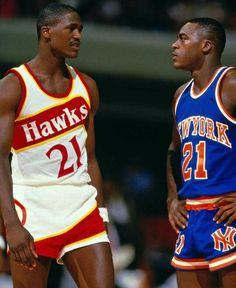 Dominique and Gerald Wilkins. Dominique was a star and Gerald was a good player for the Knicks. Neither ever won a championship as they played in the Magic/Bird and Jordan era Basketball Quotes, Basketball Pictures, Basketball Legends, Sports Basketball, Sports Pictures, College Basketball, Basketball Players, Nba Stars, Sports Stars