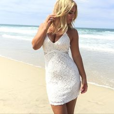 Lace Body Con Dress (Nwot)