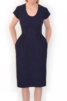 CREATURES OF COMFORT, Indigo Jersey Dress |