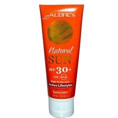 Aubrey Organics, Natural Sun, Active Lifestyles Sunscreen, Tropical Scent, SPF 30 , 4 fl oz (118 ml)