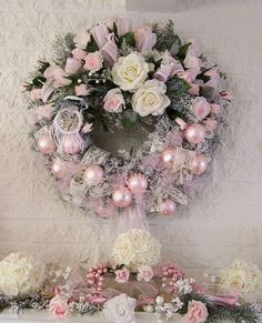 Pink Christmas wreath