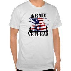 USA Army Veteran T-shirt. GET IT ON : http://www.zazzle.com/usa_army_veteran_t_shirt-235238942221100781?rf=238054403704815742