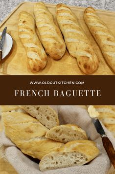 May 2020 - Make your own homemade French baguettes using a stand mixer with a dough hook. This baguette recipe has all natural ingredients. Bread Recipes, Baking Recipes, Dessert Recipes, Desserts, Chicken Recipes, Vegan Recipes, French Baguette Recipe, Classic French Bread Recipe, Homemade Baguette Recipe