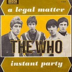 A Legal Matter/Instant Party - Italy - 1966 Decca 45 Vintage Concert Posters, Movie Posters, John Entwistle, Roger Daltrey, British Rock, Lps, Pop Music, Rock Bands, Album Covers