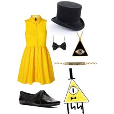 Bill Cipher by disneyfreak-1 on Polyvore featuring Vero Moda, Not Rated, E.vil and Heather Moore